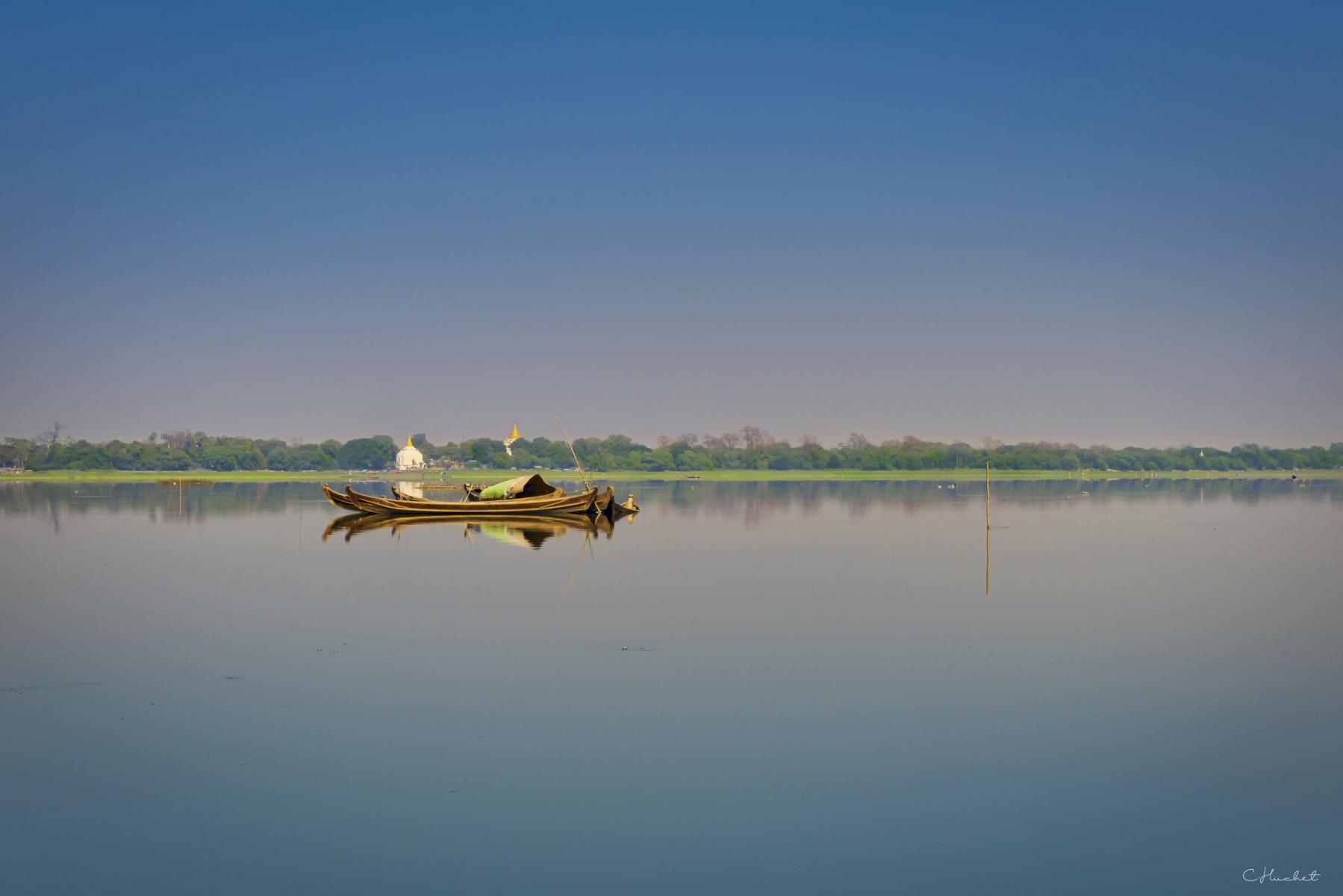 Photo Amarapura lake • Myanmar