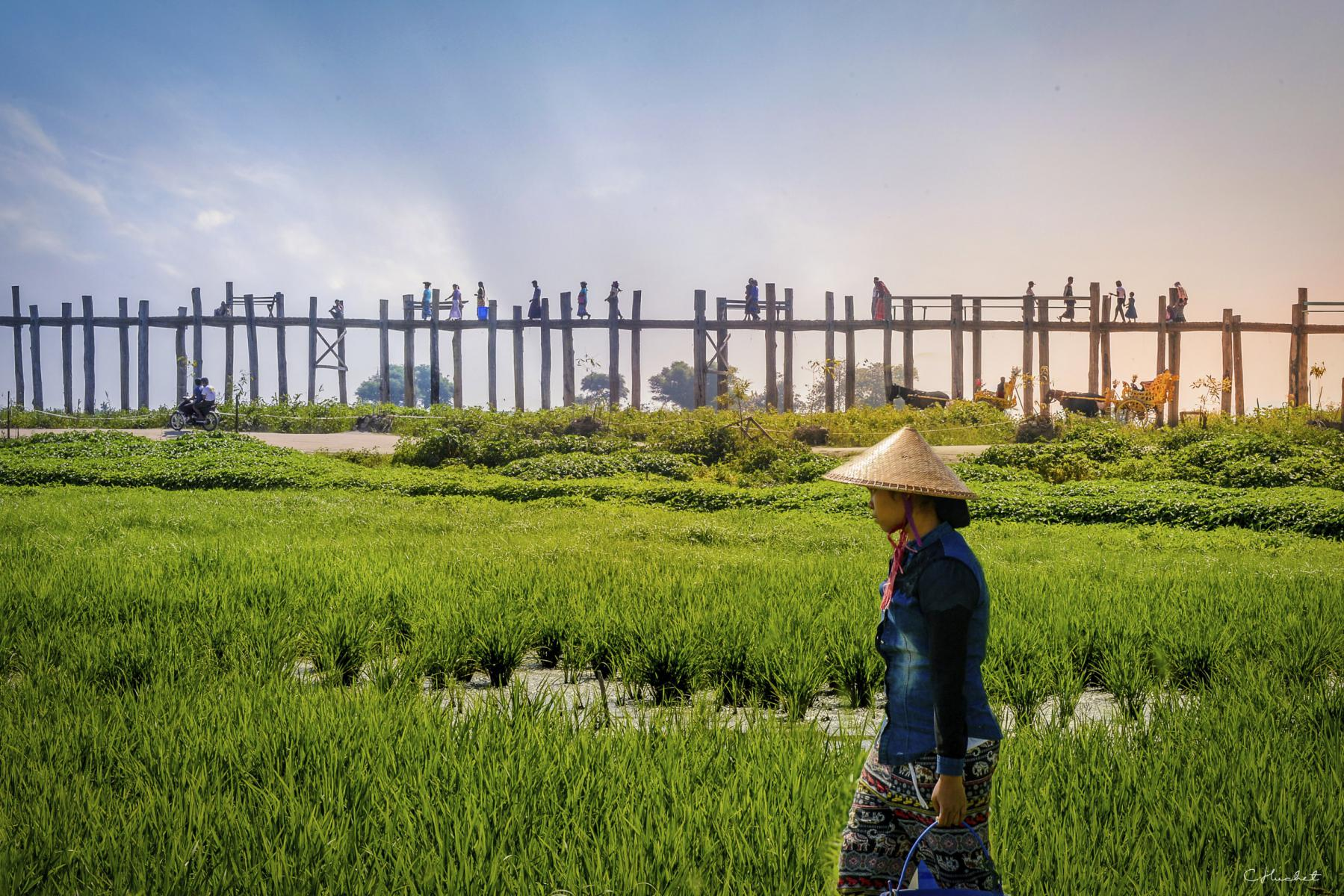 Photo U Bein bridge • Myanmar