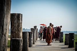 Photo Sur le pont U bein • Mandalay • Myanmar