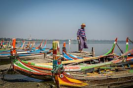 Photo Sur le lac Amarapura • Mandalay • Myanmar