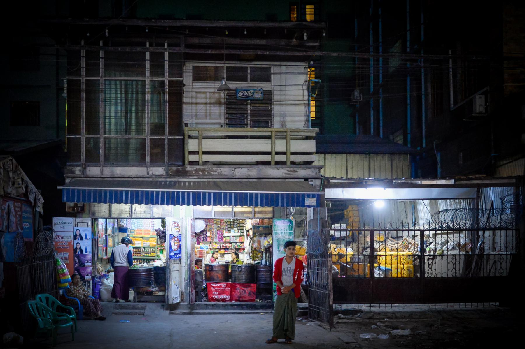 Photo Rangoon street • Myanmar