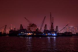 Photo Barges dans Kowloon bay • Hong Kong