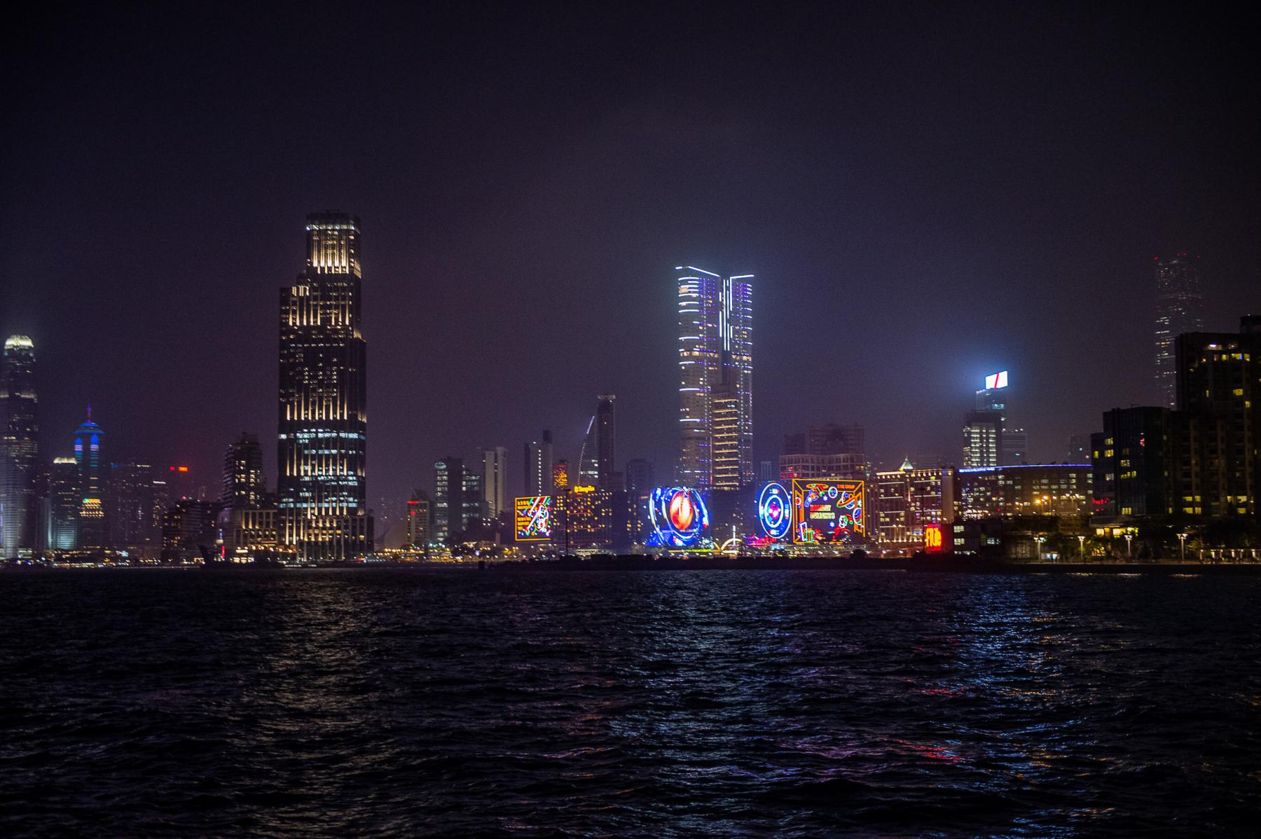 Photo Skyline nocturne sur Hong kong island